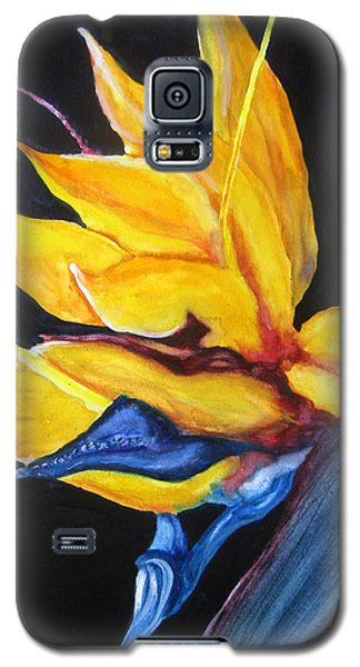 Galaxy S5 Case featuring the painting Yellow Bird by Lil Taylor