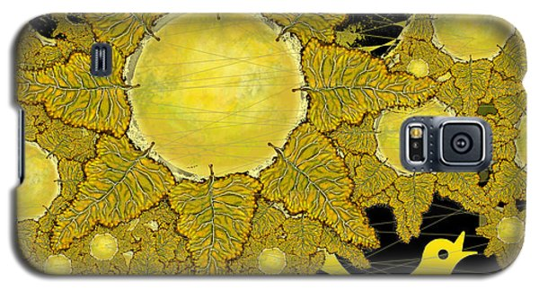 Yellow Bird Sings In The Sunflowers Galaxy S5 Case