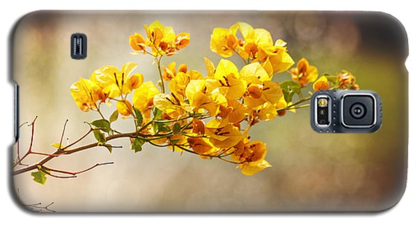 Yellow Bougainvillea Galaxy S5 Case by Sally Simon