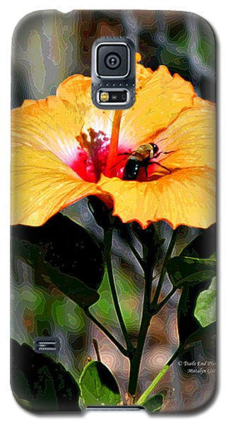 Yellow Bumble Bee Flower Galaxy S5 Case