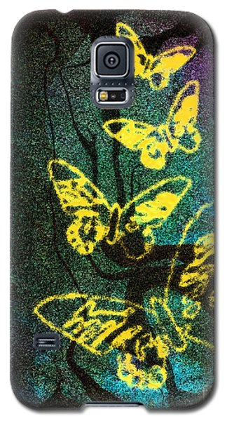 Yellow Butterflies Galaxy S5 Case