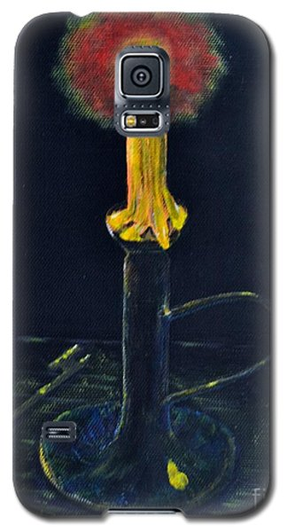 Galaxy S5 Case featuring the painting Yellow Candle by Melvin Turner
