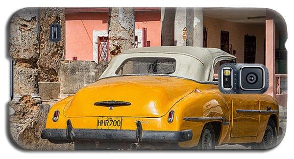 Yellow Car In Cuba Galaxy S5 Case