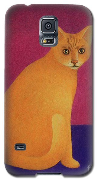 Yellow Cat Galaxy S5 Case by Pamela Clements