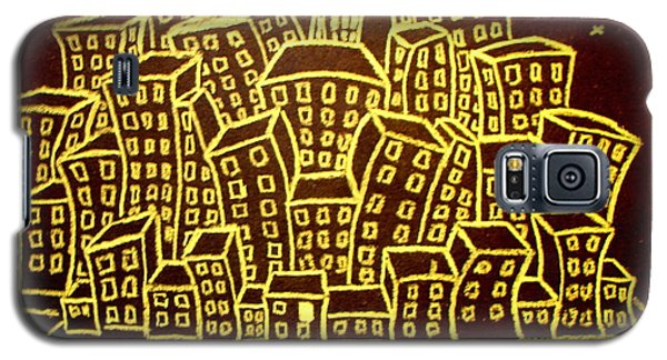 Yellow City Or City Of Gold Galaxy S5 Case by Joseph Hawkins