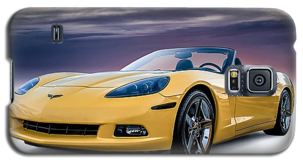 Yellow Corvette Convertible Galaxy S5 Case by Douglas Pittman