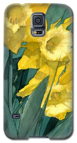 Yellow Daffodils Galaxy S5 Case by Greta Corens