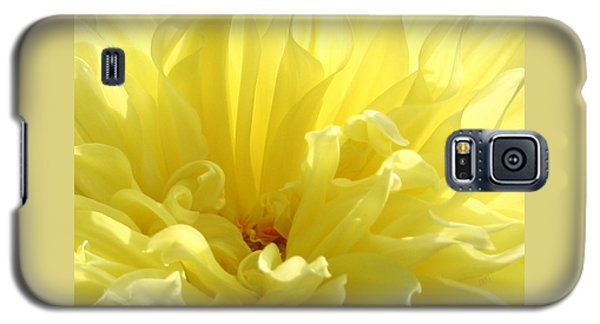 Yellow Dahlia Burst Galaxy S5 Case