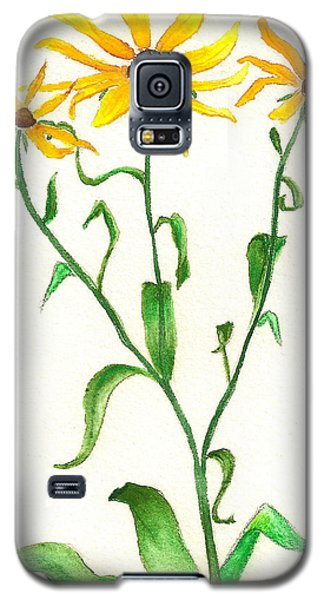 Galaxy S5 Case featuring the painting Yellow Daisies by Nan Wright