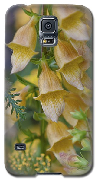 Yellow Digitalis Galaxy S5 Case