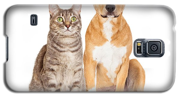 Yellow Dog And Tabby Cat Galaxy S5 Case