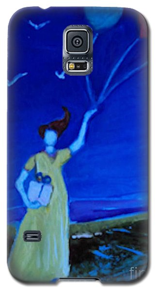 Yellow Dress Three Balloons Galaxy S5 Case by Diane Ursin