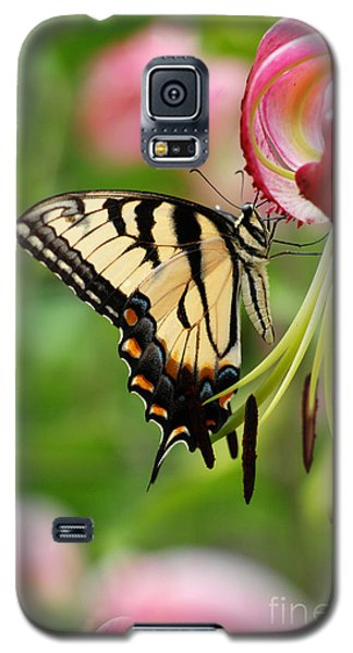 Galaxy S5 Case featuring the photograph Yellow Eastern Swallowtail Butterfly by Eva Kaufman
