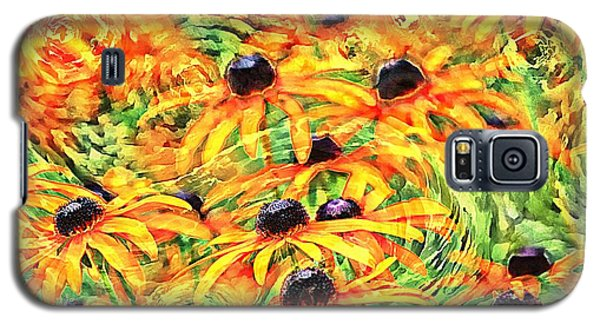 Galaxy S5 Case featuring the photograph Dancing Susans by Geraldine DeBoer