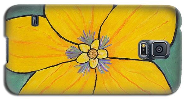 Yellow Flower Galaxy S5 Case by Jose Rojas