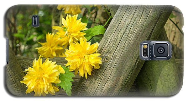 Yellow Flowers And Fence Galaxy S5 Case