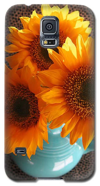Yellow Flowers In Fiesta Ware Galaxy S5 Case