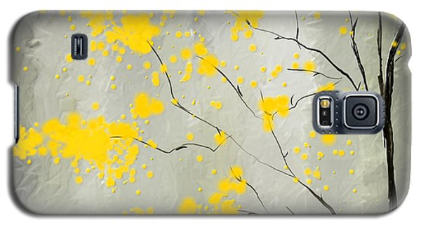 Yellow Foliage Impressionist Galaxy S5 Case by Lourry Legarde