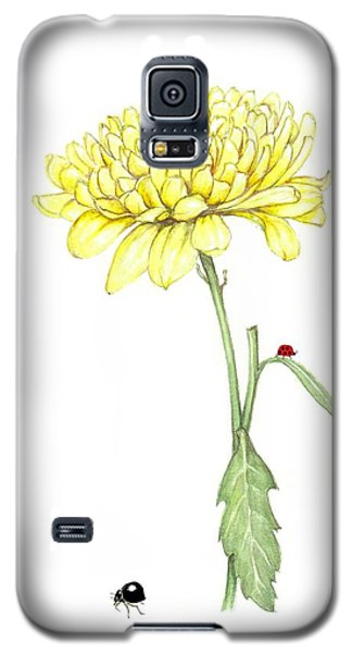 Galaxy S5 Case featuring the painting Yellow Fun by Heidi Kriel