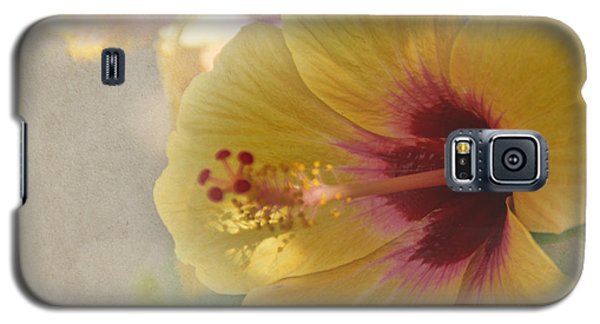 Yellow Hibiscus Galaxy S5 Case by Peggy Hughes