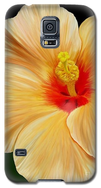 Galaxy S5 Case featuring the painting Yellow Hibiscus by Rand Herron