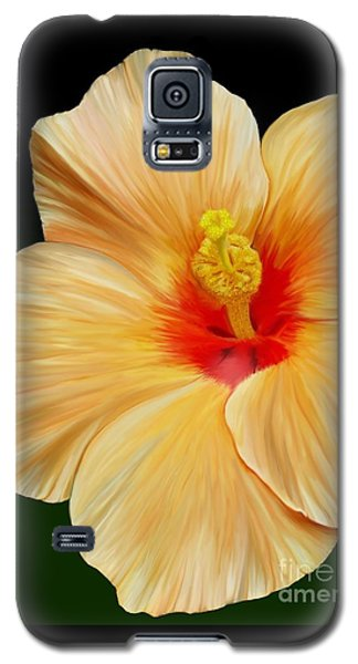 Yellow Hibiscus Galaxy S5 Case by Rand Herron