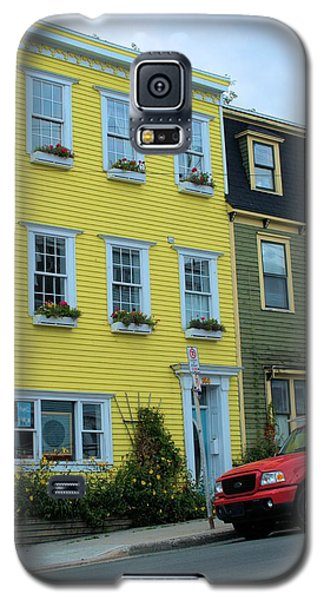 Galaxy S5 Case featuring the photograph Yellow House Red Truck by Douglas Pike