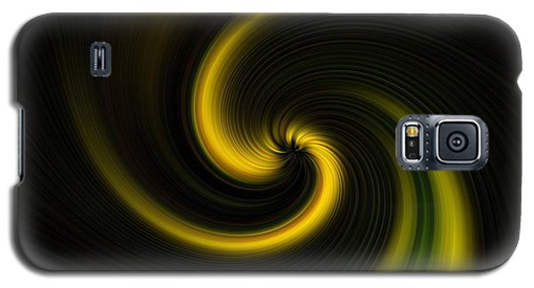 Yellow Into Black Galaxy S5 Case by Trena Mara