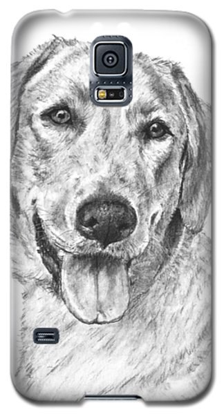 Yellow Lab Head And Shoulders Galaxy S5 Case