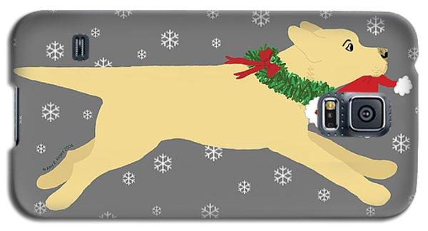 Yellow Labrador Dog Steals Santa's Hat Galaxy S5 Case