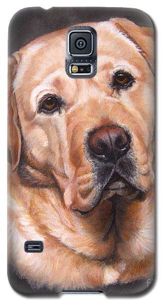 Yellow Labrador Portrait - Dark Yellow Dog Galaxy S5 Case
