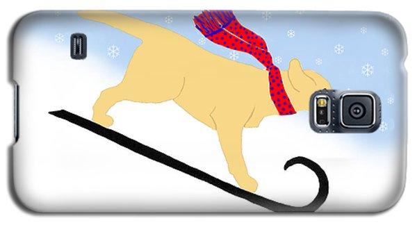 Yellow Labrador Snowboard Dog Galaxy S5 Case
