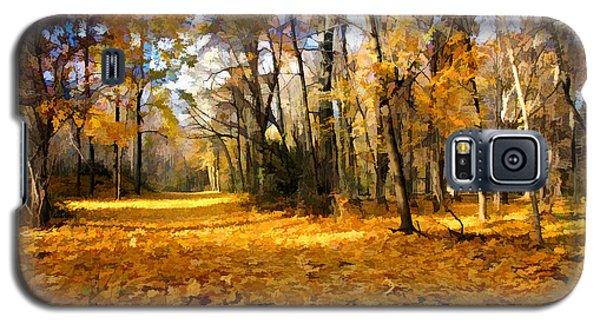 Yellow Leaf Road Galaxy S5 Case