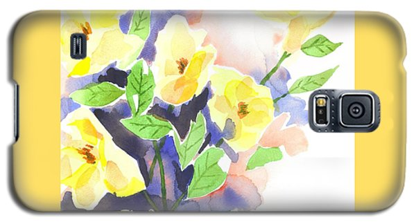 Galaxy S5 Case featuring the painting Yellow Magnolias by Kip DeVore