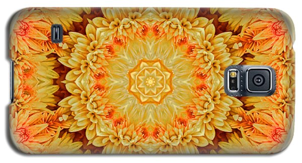Yellow Orange Mum Mandala Galaxy S5 Case