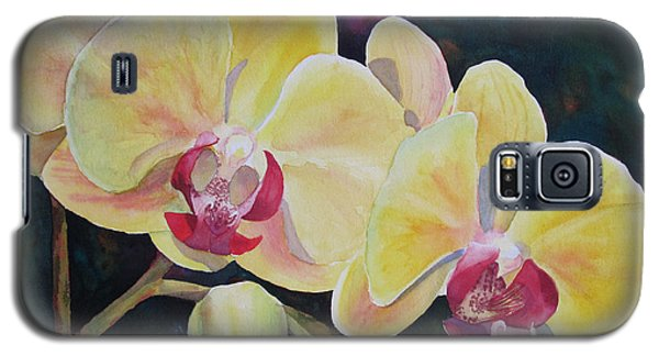 Yellow Orchids Galaxy S5 Case by Judy Mercer