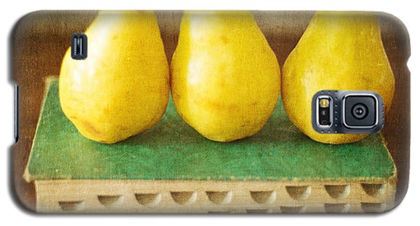 Yellow Pears And Vintage Green Book Still Life Galaxy S5 Case