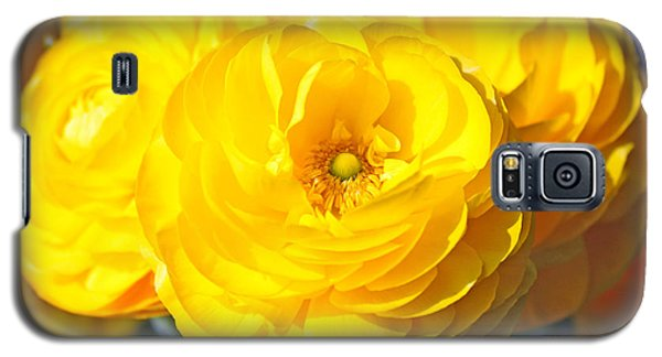 Yellow Peonies Galaxy S5 Case
