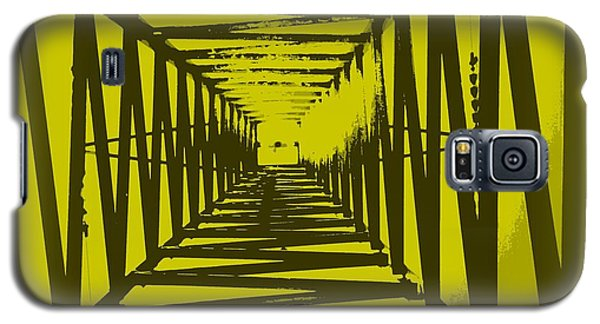 Galaxy S5 Case featuring the photograph Yellow Perspective by Clare Bevan