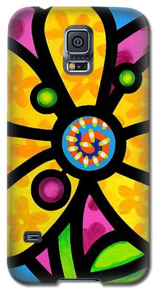 Yellow Pinwheel Daisy Galaxy S5 Case