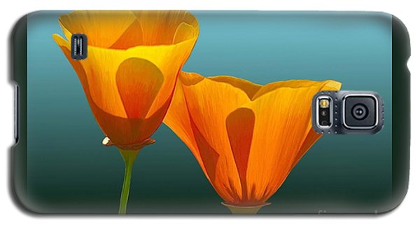 Galaxy S5 Case featuring the painting Yellow Poppies by Rand Herron