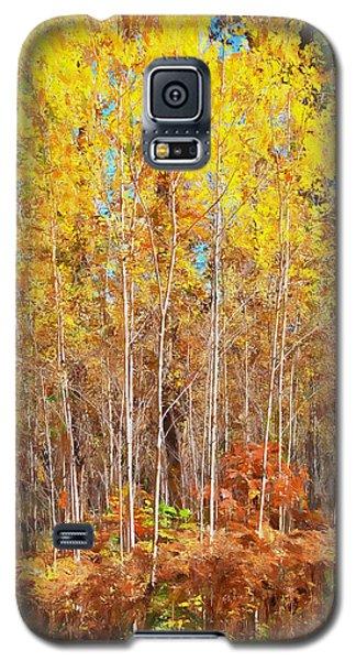 Yellow Popple 33 Galaxy S5 Case by Susan Crossman Buscho