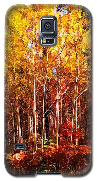 Yellow Popple 55 Galaxy S5 Case by Susan Crossman Buscho