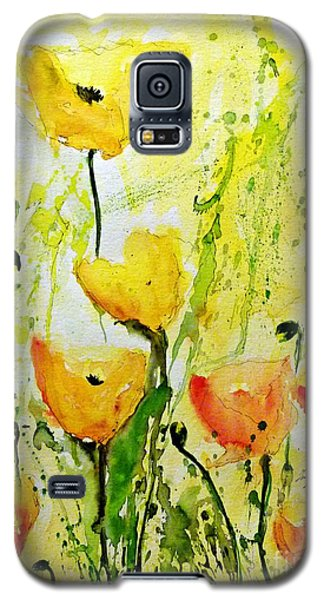 Yellow Poppys - Abstract Floral Painting Galaxy S5 Case