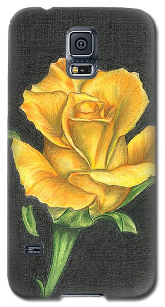 Yellow Rose Galaxy S5 Case by Troy Levesque