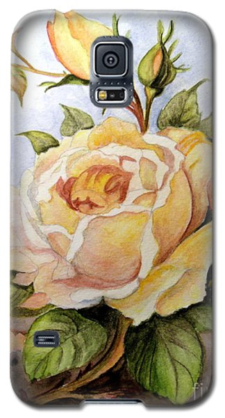 Yellow Roses In The Garden Galaxy S5 Case by Carol Grimes