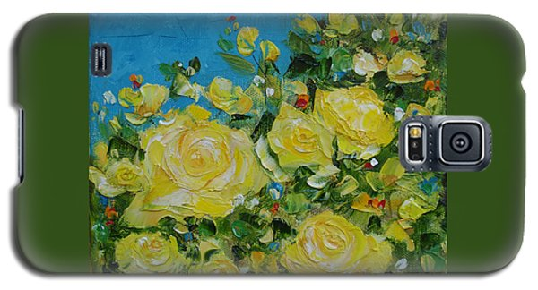 Yellow Roses Galaxy S5 Case by Judith Rhue