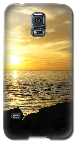 Galaxy S5 Case featuring the photograph Yellow Sky by Laurie Perry
