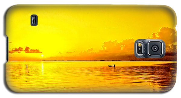 Yellow Sky Sunset Galaxy S5 Case by Lewis Mann