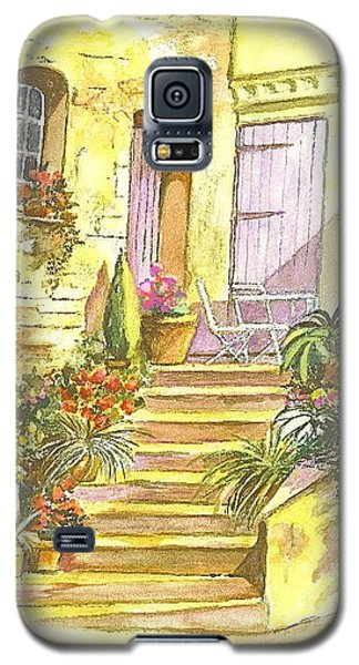 Galaxy S5 Case featuring the painting Yellow Steps by Carol Wisniewski